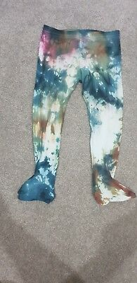 REVAMPED Tie Dyed Baby Unisex Tights Leggings Pants Bottoms. Size 2 *Hippy Baby*
