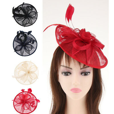 Wedding Sinamay Fascinator Headband Aliceband Clip Ladies Day Races Ascot