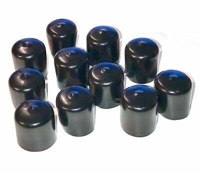 "(75 Piece) Vinyl Black Round Flexible PIPE End Caps Assortment-1/8"" to 1"" Sizes."