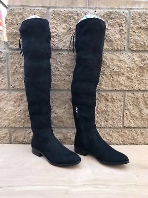6ae1f9111fa Sam Edelman Paloma Over The Knee Boots Black Faux Suede (Size Variation)
