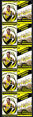 Jason Castagna Richmond Tigers 2017 Afl Grand Final Mint Stamp Strip