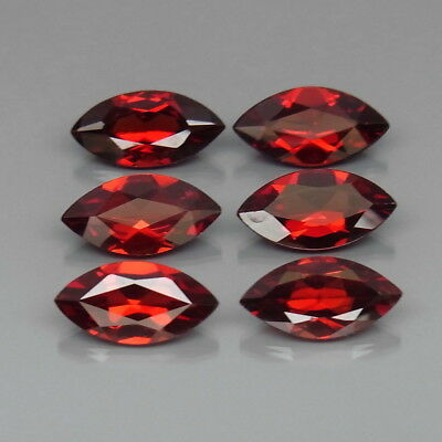 Marquise 10x5 mm.Natural Red Mozambique Garnet Africa 6Pcs/7.10Ct.