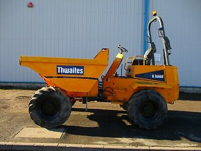 2008 Thwaites 6 ton straight tip dumper delivery arranged forward Perkins terex
