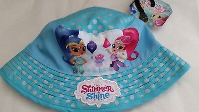 SHIMMER AND & SHINE Girl licensed bucket hat blue NEW age 2-4 , up to 53cm