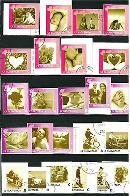 Slovenia 2009 Lot of personal stamps ☀  Two scans ☀ CTO - Never hinged