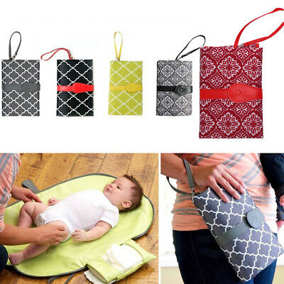 Folding Stroller Products Clutch Bag Baby Diaper Changing Mat Infants Nappy Pad