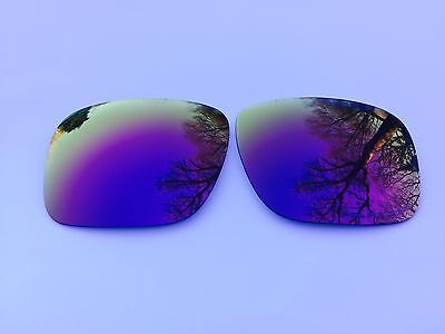 Etched Polarized Purple Mirrored Replacement Lenses For Oakley Holbrook
