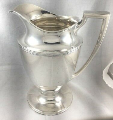 "Tiffany Sterling 9"" Water Pitcher- Mono'd"