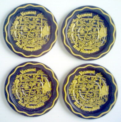 Lot Of 4 1950's Vermont And New Hampshire Coasters Metal