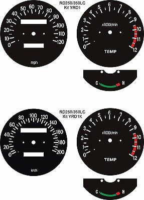 Water Cooled Rd250 Rd350 Rz250 Rz350 Lc Mars Speedo Clock Dial Faces Overlays