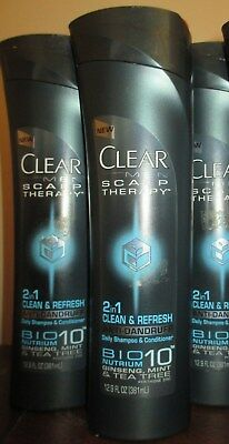 3x Clear Men Scalp therapy Clean & Refresh dandruff Shampoo & conditioner 12.9oz