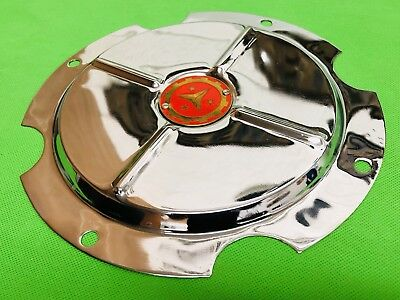 Super Lusso 10 Inch Wheel Disc Cover Vigano Gold Star Logo Lambretta