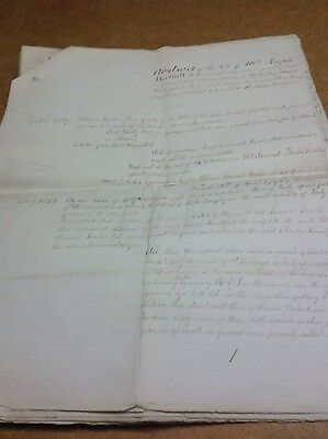 Old Derbyshire Document 1848 Derby ,St. Werburgh Seen Moseley, Fowler, Abstract.