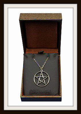 Bronze Age ~ Pentagram ~ Bronze Pendant Necklace ~  From St Justin ~ Free P&p