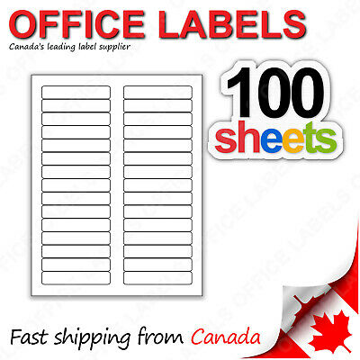 100 Sheets of Filing Labels 2/3'' x 3-7/16'' 30up 3000 Labels
