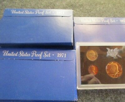 4-Sets, 1971-S Proof Set, Each Set...5 Coins Mint Sealed And Packaged,  Wha-0108