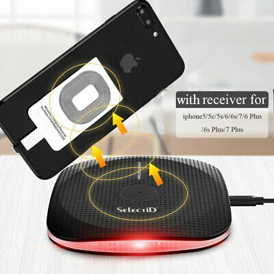 Qi Wireless Charger Charging Mat+Receiver For Samsung Galaxy J3 J5 J7 A3 A5 A7