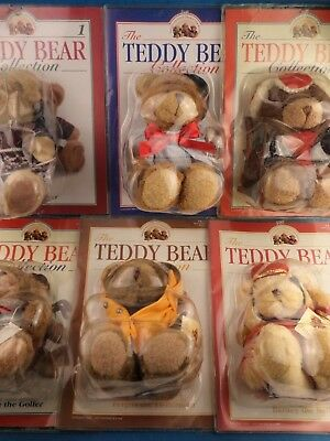 Job Lot THE TEDDY BEAR COLLECTION - ISSUES 1 to 10 Character Bears /Package Worn