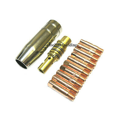 Mb15 Mig Consumables Kit Contact Tips Shroud Nozzle Holder Spares Mig100/130