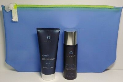 Monat Hair The Champ Dry Shampoo Blow Out Cream Travel Size Jelly Bag 3 Pcs