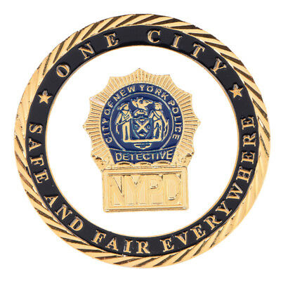 New York Police Department GoldPlated Commemorative Challenge Coin CollectiBLUS
