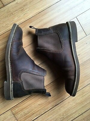 29a7ae600a9 MENS CLARKS BUSHACRE Hill Chelsea Boot Brown Size 8 - $14.99 | PicClick
