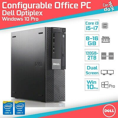 FAST Core i7 Office PC Desktop Computer Windows 10 Pro 16GB RAM WIFI SSD Small