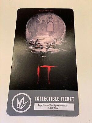 Regal IT Movie Collectible Ticket