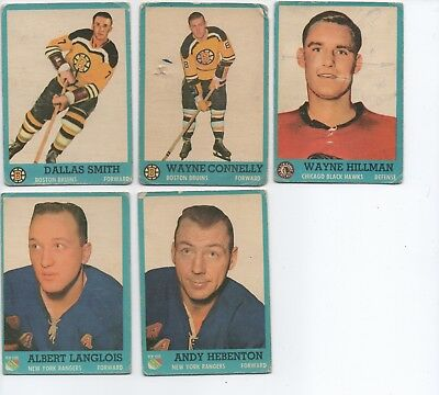 1962-63 Topps Hockey Small Lot Miscellaneous Cards