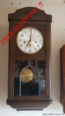0159 - German LFS Hermle Westminster chime wall clock
