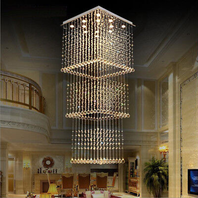LED CRYSTAL STAIR Chandeliers Living Room Ceiling Lamp ...