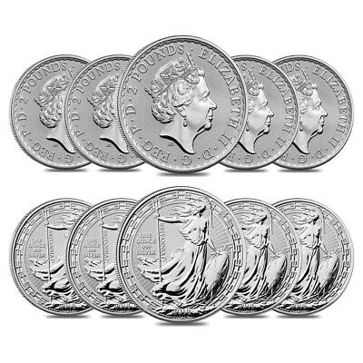 Lot of 10 - 2019 Great Britain 1 oz Silver Britannia Oriental Border Coin BU