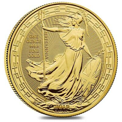 2019 Great Britain 1 oz Gold Britannia Oriental Border Coin .9999 Fine BU