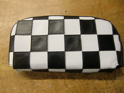 Black/White Check Scooter Back Rest Cover (Purse Style)