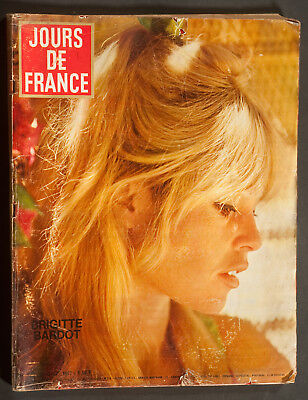 'jours De France' Vintage Magazine Brigitte Bardot Cover 19 October 1967