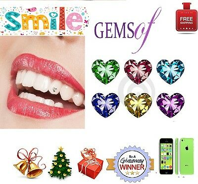 Tooth Jewels Crystal Teeth Stones Heart Shaped Gems Kit