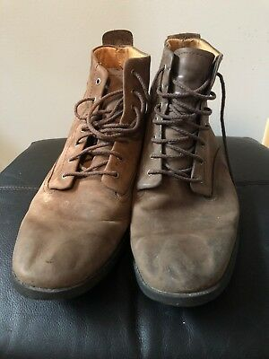 e7d6f6ec9c3 VINTAGE TIMBERLAND LEATHER Boots Size 12 Men's | Brown Waterproof Boots