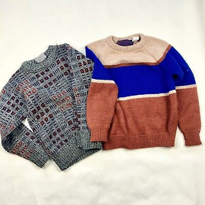 Kids Boys Vintage 80's Sweater Lot, Size 5/6Y, As-Is Condition