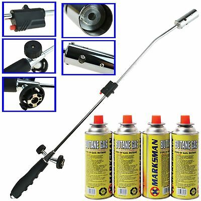 Weed Wand Blowtorch Burner Killer Garden Torch Blaster + Butane Gas Weeds