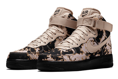 Nike Air Force 1 High Print acid Wash blackparticle beige AR1954 001 Men's Casual Shoes AR1954 001