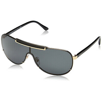 Versace VE2140 Sunglasses Black & Gold/ Grey 40mm