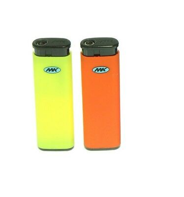 2 Full Size MK JET TORCH Assorted Color Lighters Windproof Refillable Lighter