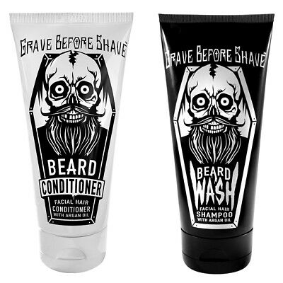 GRAVE BEFORE SHAVE BEARD WASH & CONDITIONER with Argan Oil