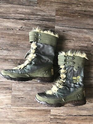 f35cdddaf THE NORTH FACE NSE 4-3284 Military od Green Womens Snow Winter Rain ...