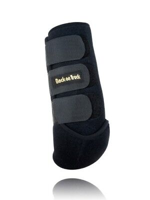 (Large, Black) - Back on Track Therapeutic Horse Exercise Boot for Front Leg