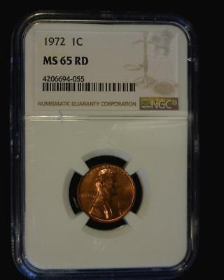 1972 Lincoln Memorial Cent Gem Brilliant Certified Ngc Ms65 Red ~S665
