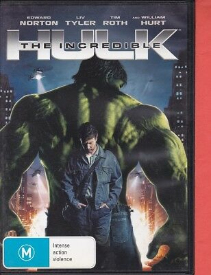 The Incredible Hulk (c, DVD, 2008, Region 4) Edward Norton, Liv Tyle