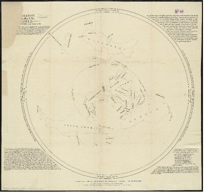 Flat Earth✅ Middleton's Pioneer Map of the World, as a Plane and Immoveable A3 ✅