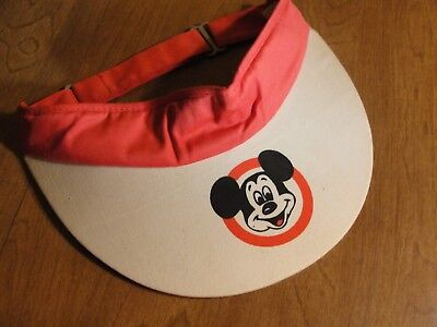 Vintage 1970 s Mickey Mouse Sun Visor - Red   White - Nice Find - P1017 340f91401884