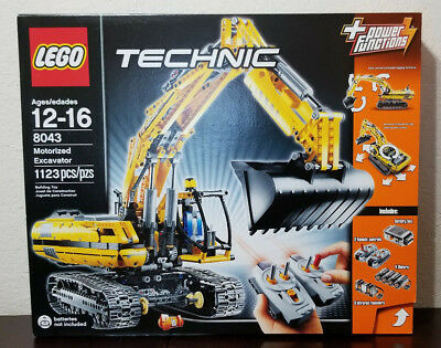 Lego Technic Motorized Excavator 8043 Construction Electric Remote Control
